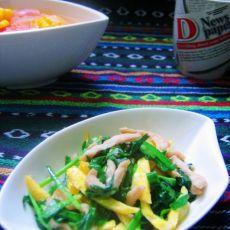 韭菜蛋皮炒肉丝的做法