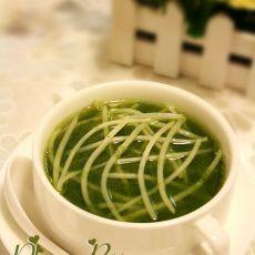 韭菜豆芽汤的做法