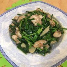 生蚝炒韭菜