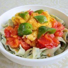 韭菜西红柿鸡蛋面