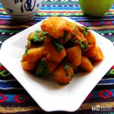 韭菜烧土豆