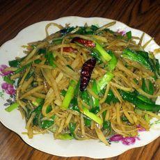 韭菜土豆丝的做法