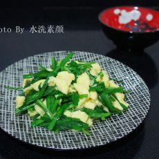 韭菜炒土鸡蛋的做法