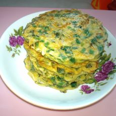 韭菜鸡蛋虾皮饼
