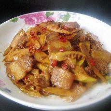 五花肉炒春笋的做法