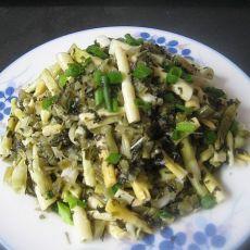 酸菜炒春笋的做法