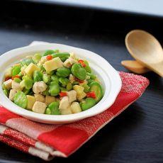 鸡肉豆米笋丁的做法