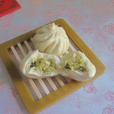 咸菜春笋包子