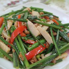 海米笋丝韭菜花