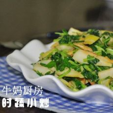 马兰嫩笋炒豆干的做法