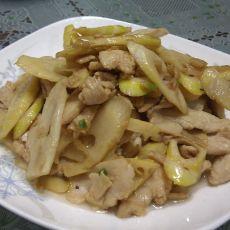 春笋炒鸡片的做法