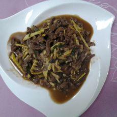 牛肉丝炒笋的做法
