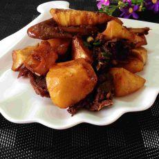 春笋土豆焖鸭肉