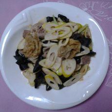 肉片炒杂蔬的做法