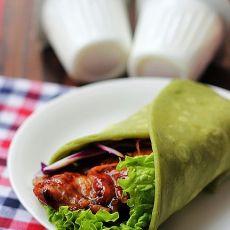 五色嫩鸡菠菜卷    自制快手餐