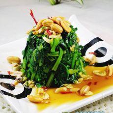 麻辣蒜香菠菜墩的做法