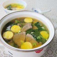 猪肝日本豆腐汤的做法