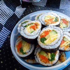 韩式美食紫菜包饭