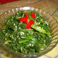 凉拌小菠菜