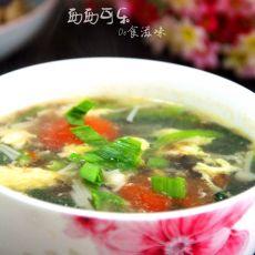 紫菜番茄金针菇汤的做法