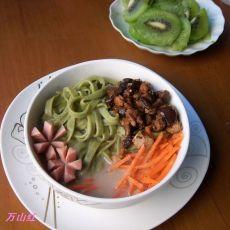 核桃豆浆翡翠面的做法