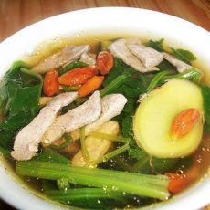 【美味女人节】菠菜猪肝汤