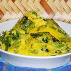 菠菜煎蛋的做法