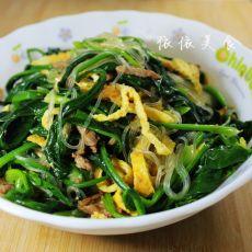三丝拌菠菜