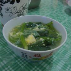 菠菜粉丝鸡蛋汤