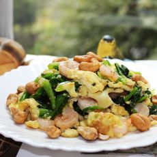 虾仁拌菠菜