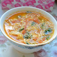 杏鲍菇西红柿鸡蛋汤的做法