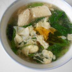 菠菜豆腐蛋花汤的做法