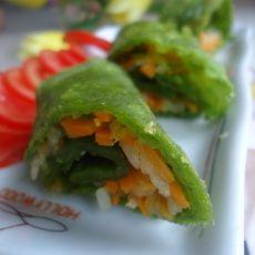 菠菜胡萝卜卷