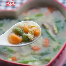 芙蓉鲜蔬三色咸汤圆