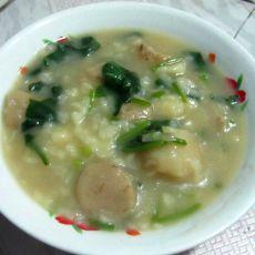 菠菜鱼丸疙瘩汤