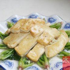 菠菜烧豆腐的做法