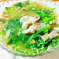 菠菜猪肝蘑菇汤