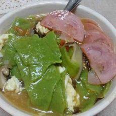 番茄紫菜蛋花菠菜面片片儿汤