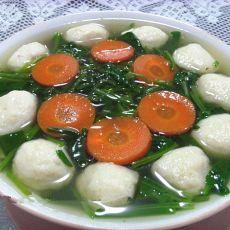 菠菜鱼丸汤的做法
