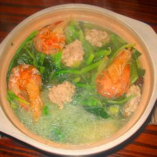 菠菜肉丸粉丝汤