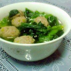 牛肉丸菠菜汤的做法