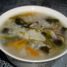 菠菜肉丝粥