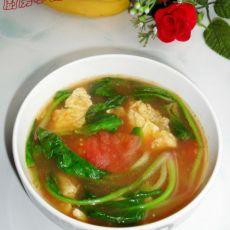 菠菜番茄蛋汤的做法