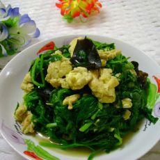 菠菜木耳炒鸡蛋的做法
