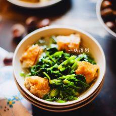 菠菜炒肉卷