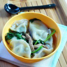 简易菠菜肉丝饺