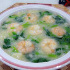 虾仁菠菜疙瘩汤