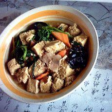 冻豆腐焖菠菜