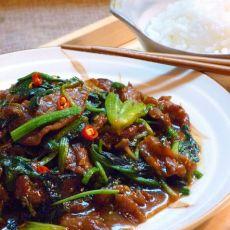 菠菜蚝油牛肉
