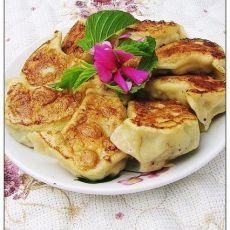 菠菜豆腐素煎饺
